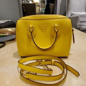 DKNY small leather yellow bag